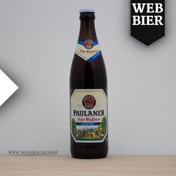Paulaner Weizen Hefeweißbier Leicht die Flasche