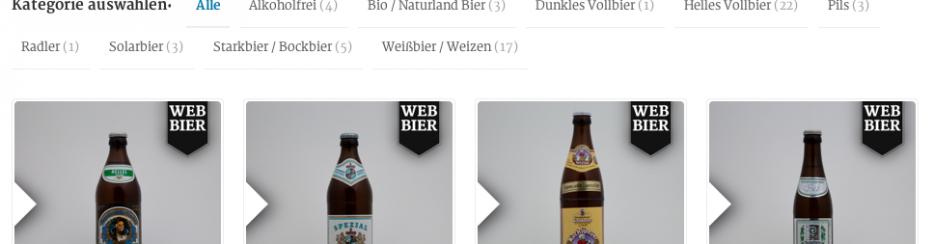 Sortiment unserer Biere