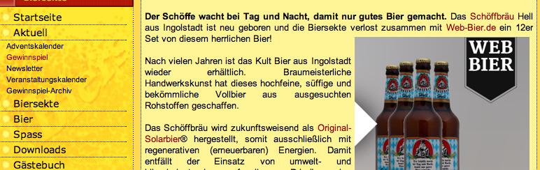 Gewinnspiel auf Biersekte.de